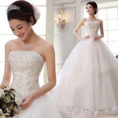 Free Shipping 2014 new arrival wedding dress formal dress luxury diamond tube top bandage wedding dress wedding qi hs5635