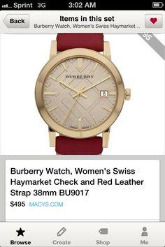 Burberry watch!!