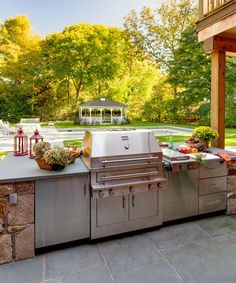 Kalamazoo Hybrid Fire Grill and Outdoor Storage Cabinets
