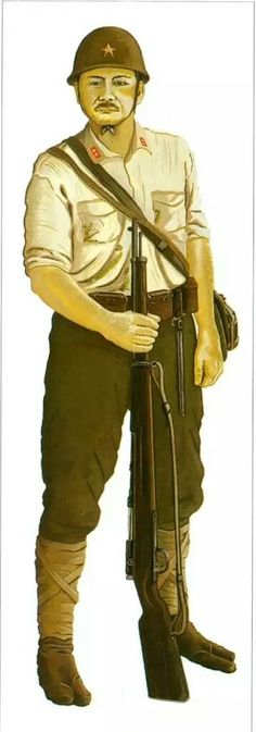 Guadalcanal 1942, Imperial Japanese Army, private with Arisaka rifle - pin by Paolo Marzioli