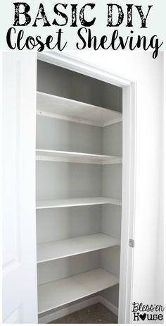 Trendy home improvement diy closet shelves Ideas Closet Office, Hall Closet, Kid Closet, Closet Bedroom, Closet Ideas, Diy Bedroom, Bathroom Closet, Entryway Closet, Diy Closet System