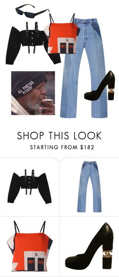 """""""fvck up"""" by astrro ❤ liked on Polyvore featuring M.Y.O.B., RE/DONE, Quetsche, Chanel and GET LOST"""