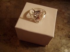 Leopard Ring Silver SPRING SALE by BijouxEtEtoffee on Etsy, $3.99