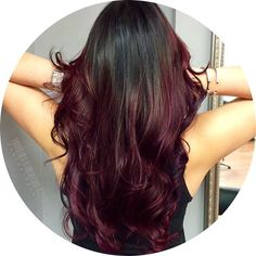 I love the red/purple color at the bottom for an all over color!