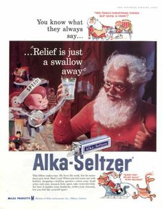 1958 Alka Seltzer ad. The Saturday Evening Post.