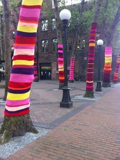Iowa City Downtown District is Looking to Enlist a Few Good Knitting Tree Lovers - Iowa City, IA Patch