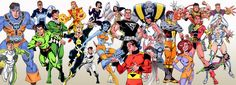 The Legion of Super Heroes drawn by Ron Frenz