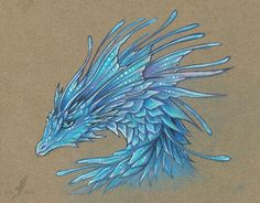 Crystal blue dragoness