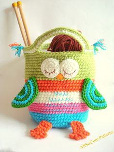 Crochet Bag Pattern Girls Purse, INSTANT DOWNLOAD PDF, Crochet Owl Purse Pattern…