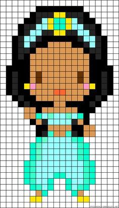 Princess Jasmine Aladdin Perler Bead Pattern
