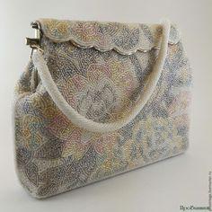 Купить Винтажная бисерная сумочка - провинтаж, белый, подарок, винтаж, винтажная сумка, винтажная сумочка