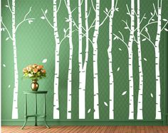 Familie weißer Aufkleber Baumes große von Walldecorative auf Etsy