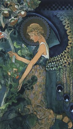 "Angel, 1911  Kazimierz Sichulski . From Wiki: ""Kazimierz Sichulski (1879–1942) was a Polish painter and printmaker, a representative artist of the Young Poland period.  Sichulski trained at the Jan Matejko Academy of Fine Arts from 1900 to 1908, under Leon Wyczółkowski, Józef Mehoffer, and Stanisław Wyspiański. In 1936 he was awarded the Golden Laurel of the Polish Academy of Literature."""