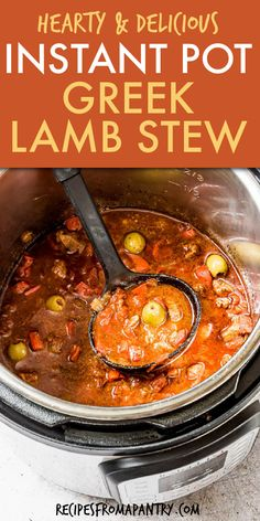 This easy Instant Pot Lamb Stew recipe is perfect for fall! Making a lamb stew instant pot style is super easy, and it can even be made as a Dump and Start Instant Pot Recipe. Just the thing for potlucks or weekly meal prep. Greek lamb stew is full of flavor, hearty Best Instant Pot Recipe, Instant Pot Dinner Recipes, Supper Recipes, Brunch Recipes, Chowder Recipes, Soup Recipes, Potted Beef Recipe, Lamb Stew, Cupcakes