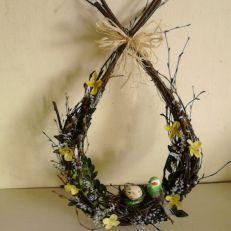 Velikonoční/jarní závěsná březová houpačka: