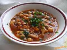 Cícerový guláš Krabi, Chili, Soup, Gluten Free, Recipes, Red Peppers, Glutenfree, Sin Gluten, Chilis