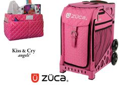 Zuca Sport Bag - Pink Hot (Limited Edition) & Kiss and Cry Rink Tote (Bubbly Pink) #figureskating #figureskatingstore #figureskates #skating #skater #figureskater #zucabag #zuca #zucabags #zuca #backpack #zucabackpack #iceskatebag #skatebags #ice #skatingbag #zucastore #zucabackpacks #zucaskatebag