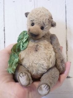 Chuck OOAK Hand Made Artist Teddy Bear by by KristinaBears on Etsy