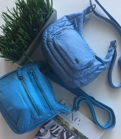 Shop our collection of luxury vegan leather & Faux leather handbags, backpacks, clutches, wallets & accessories. Cruelty Free Fashion Designed in Pasadena, CA Vegan Purses, Monday Blues, Color Of The Year, Pantone Color, Vegan Leather, Baby Blue, Handbags, Inspired, Colors