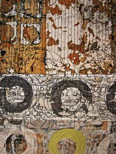 sarah welsby - 2 detail from Rust & Erosion 29cm x 152cm: 29cm x 95cm © 2011