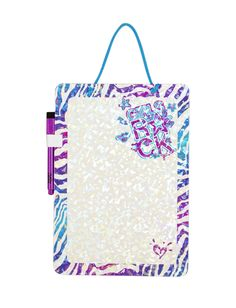 Girls Clothing | Room Accessories | Cool Zebra Dry Erase Board | Shop Justice