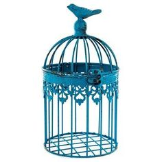 Small Antique Blue Iron Bird Cage * Details can be found by clicking on the image.Note:It is affiliate link to Amazon.
