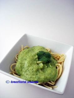 Healthy Spinach Alfredo Sauce | Domesticated Academic