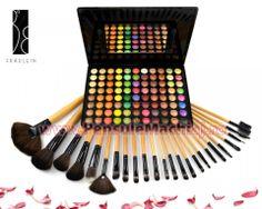 Trusa Farduri 88 culori Fraulein38 Sun Kiss + 24 pensule machiaj Art Supplies, Triangle, Kiss, Kisses, A Kiss