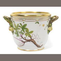 A Royal Copenhagen porcelain Flora Danica wine cooler 1968