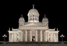 Symbol of Helsinki: Tuomiokirkko. One of the most beautiful churches I have ever seen. #Helsinki #Finland