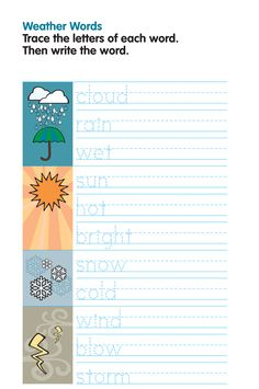 Weather (tracing words)
