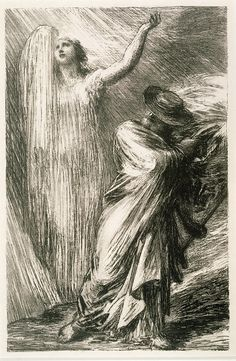 Evocation d'Erda (1886), by Henri Fantin-Latour (1836-1904), from Act 3 of Siegfried (1871), by Richard Wagner (1813-1883).