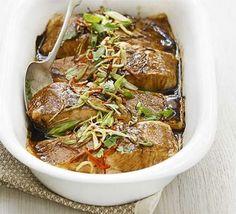 Grilled Thai salmon Recipe on Yummly Thai Salmon Recipe, Salmon Recipes, Fish Recipes, Seafood Recipes, Chicken Recipes, Fish Sauce, Seafood Dishes, Bbc Good Food Recipes, Eating Clean