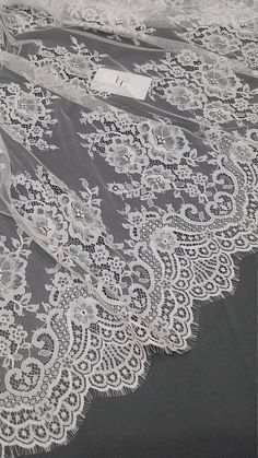 Ivory lace fabric by the yard, French Lace, Embroidered eyelash lace,Bridal lace,White Lace,Veil lace, Lingerie Lace Chantilly Lace by DelightfulWedding on Etsy