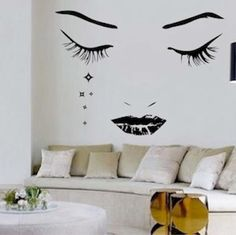 Modern Face Vinyl Wall Art Design by trendywalldesigns on Etsy, $49.95