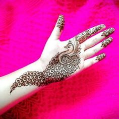 Best Henna Design on Palm Images Gallerh - Henna Designs Easy on Palm with Cute and Simple Design for Girl. this is the best henna design on Palm Peacock Mehndi Designs, Henna Art Designs, Mehndi Designs For Girls, Mehndi Designs For Beginners, Modern Mehndi Designs, Dulhan Mehndi Designs, Mehndi Design Photos, Wedding Mehndi Designs, Mehndi Designs For Fingers