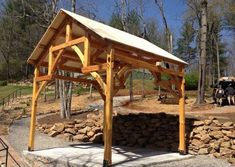 Cabin Creek Timber Frames is made up of a team of experienced professionals in Franklin, North Carolina who know their craft and are passionate about their craft. You can see this dedication illustrated in our Timber Frame construction portfolio below. Metal Roof Houses, House Roof, Timber Frames, Outdoor Dining, Pavilion, Gazebo, Barn, Construction, Exterior