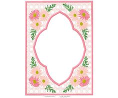 #embroidery #embronetto  Embroidery Frame Designs : Floral Frames 04