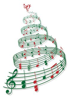 Image result for christmas musical notes