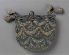 Small round purse English, 17th or early 18th century England DIMENSIONS Height x width: 4 1/8 x 4 5/16 in. (10.5 x 11 cm) MEDIUM OR TECHNIQ...