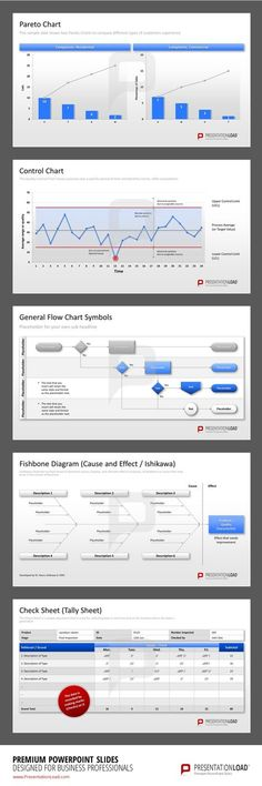 Total-Quality Management PowerPoint Templates includes control charts and various diagrams to keep the overview about your quality management. #presentationload www.presentationl...