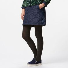 This exceptional skirt features padded quilting and a fleece lining for soft, warm comfort. The unique and stylish stitch pattern adds a fashionable accent to your look. The miniskirt length is perfect to pair with tights or boots. The full-zip front means it can also double as a lap blanket or throw.