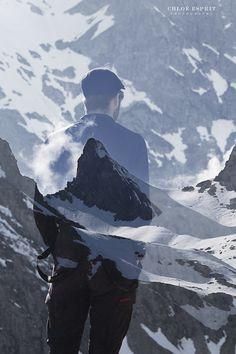 """""""L'Homme de la montagne""""  http://chloeesprit.com   Gallery """"L'Homme et la Nature - Man and Nature"""""""