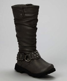 This Black Studded Harness Boot by Eddie Marc Kids is perfect! #zulilyfinds
