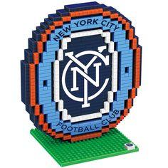 New York City FC MLS BRXLZ 3D Construction Puzzle Set - Logo