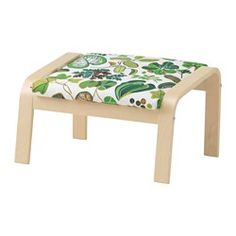 IKEA - POÄNG, Footstool, Simmarp green, birch veneer, , Layer-glued bent beech frame gives comfortable resilience.The cover is easy to keep clean as it is removable and can be machine washed.To sit even more comfortably and relaxed, you can use the armchair together with a POÄNG footstool.A variety of seat cushion designs makes it easy to change the look of your POÄNG chair and your living room.The high back provides good support for your neck.10-year limited warrranty. Read about the terms…