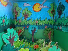 εικαστικά μαθήματα-κατασκευές, ζωγραφική: Δάσος 3D. Trees To Plant, Drawings, Plants, Diy, Painting, School, Bricolage, Tree Planting, Painting Art