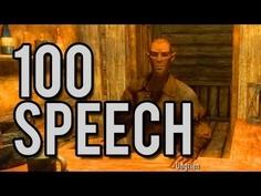 Skyrim - How to Level Speech to 100 Fast!