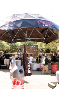 We can also make a cap piece or incomplete dome cover so that the geodesic dome is still open but can be used for shade at outdoor events or even to create an oasis in your backyard.