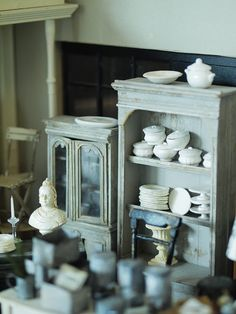 Miniature Handmade Serving Pieces. ミニチュア作り : natural色の生活~handmade家具